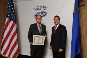Skip Bjorkman and Governor Brian Sandoval