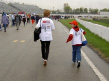 Walking the Milwaukee Mile for Autism Speaks