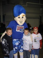 The Kids with the Wave Mascot