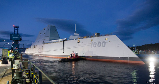 The USS Zumwalt--featuring M16878/4, M24640 and M24643 Cable from AWC!